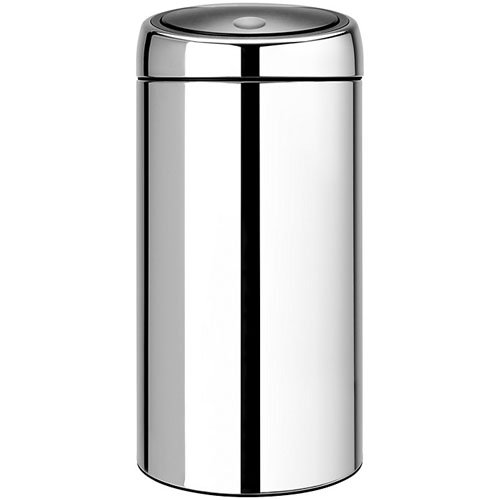 Brabantia Twin Recycling Touch Bin Brilliant Steel 20 and 20L