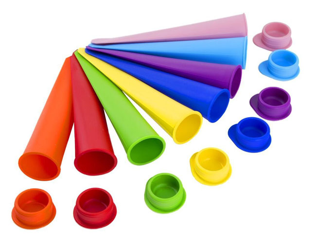 Golden Spoons 8-Pack Silicone Push Pop Ice Lolly Mould
