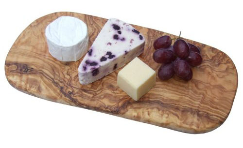 Naturally Med - Olive Wood Chopping Cutting Cheese Board - 12 inch b