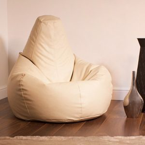 Bean Bag Bazaar Reclineer Faux Leather Beige