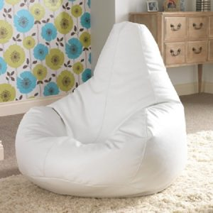 Bean Bag Bazaar Reclineer Faux Leather White