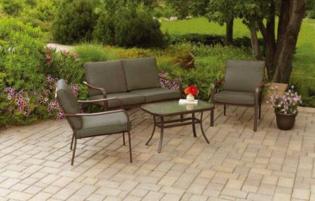 Mainstay Cushioned 4-piece Patio Conversation Set Stage