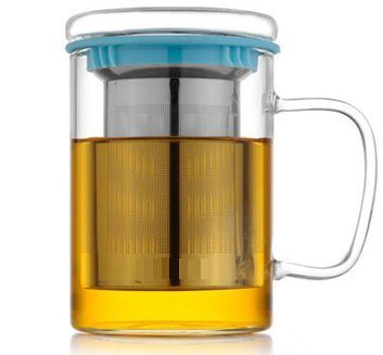 Wimports Glass Tea Mug With Infuser