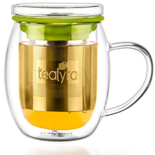 Tealyra Venus Double Wall Glass Tea Cup