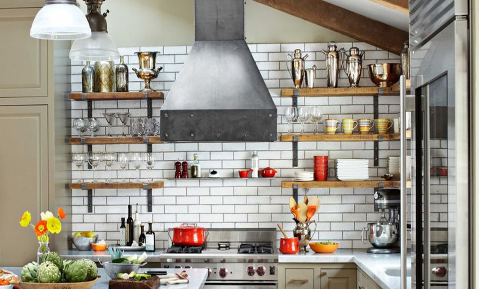 Achieving that industrial looking kitchen