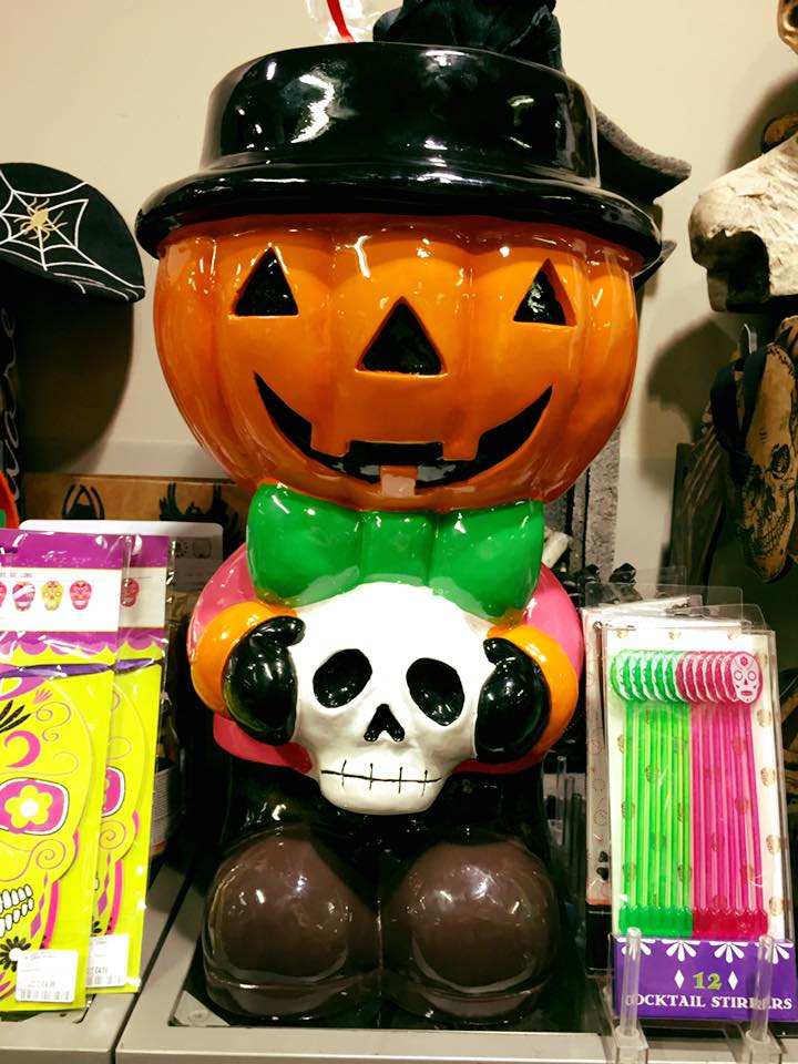 Pumpkin Head Figural Candy Bowl with Porcelain Finish