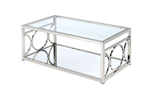 HOMES Inside Out Ortencia Chrome O-Ring Coffee Table