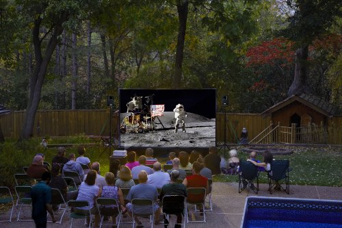 Backyard Theater Systems with 12-foot QuikScreen