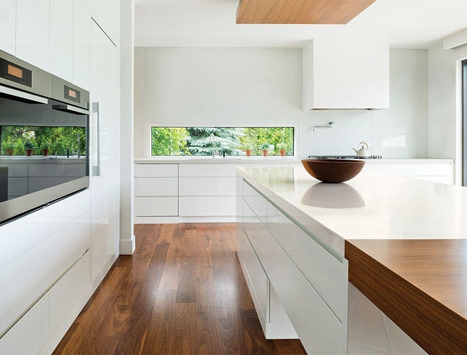 No clutter kitchen, leave nothing on the countertop