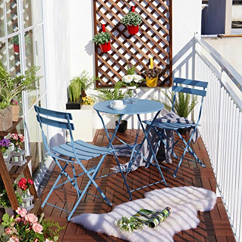 Foldable Steel Outdoor Bistro Set from Amazon