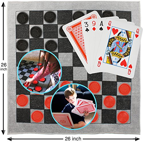 Elite Sportz Giant Card Games and Checkers