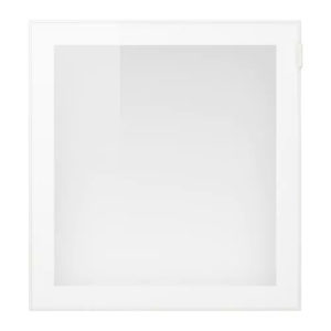 GLASSVIK White Door with Frosted Glass Full Height