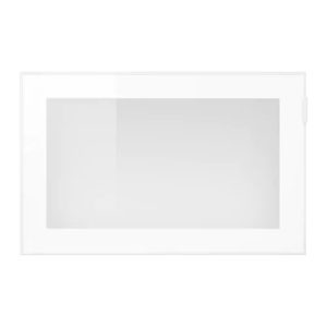 GLASSVIK White Door with Frosted Glass Half Height
