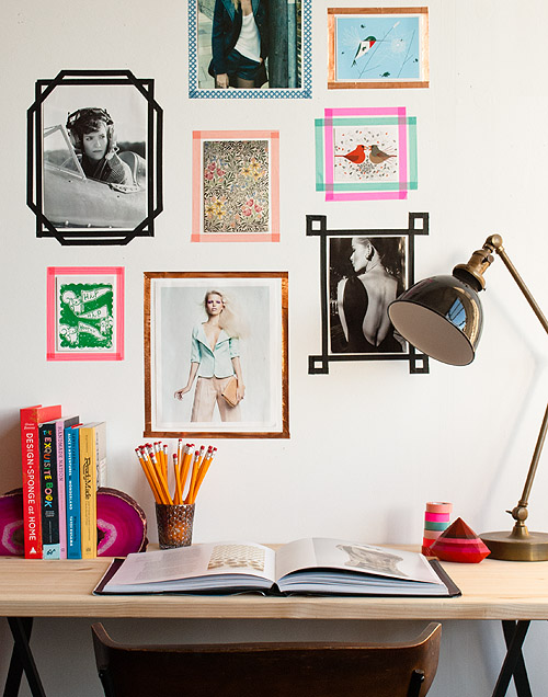 Decal Photo Frames from Washi Tapes