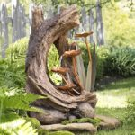 Woodland Stump Water Fountain Electric