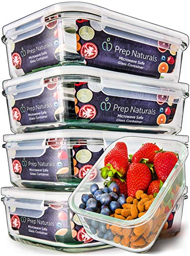 Prep Naturals Glass Food Prep Containers
