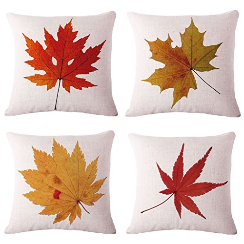 Autumnal Leaves Cushion Cover Set