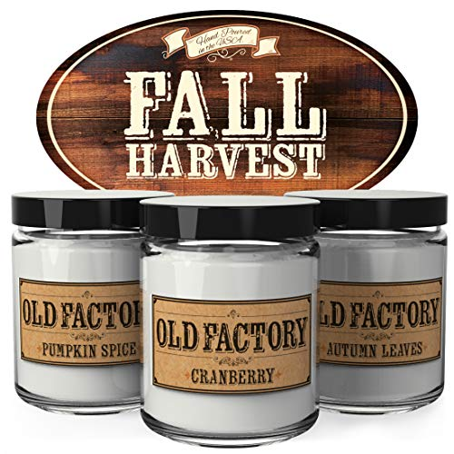 Fall Harvest Scented Candles Set