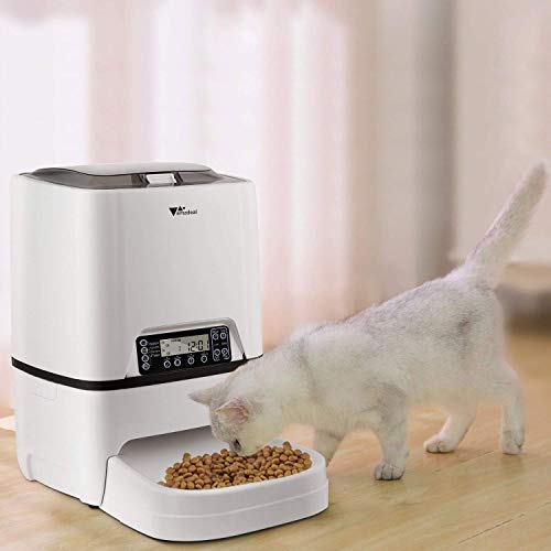 amzdeal Automatic Cat Feeder 6L Pet Feeder