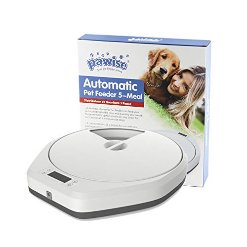 PAWISE Automatic Pet Feeder 5 Meals