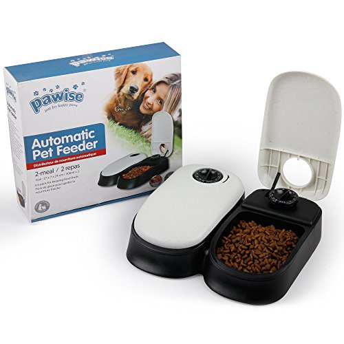 PAWISE Automatic Pet Feeder 2-Meal Food Dispenser