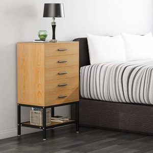 5-Drawer Chest LITTLE TREE Drawer Dresser with Open Storage