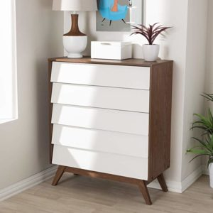 Baxton Studio 5-Drawer Storage Chest