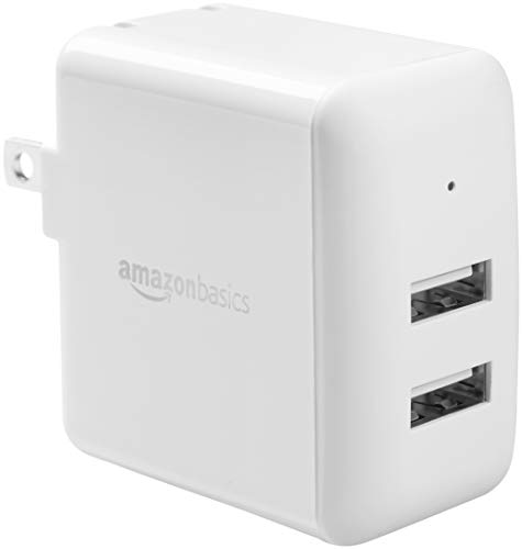 AmazonBasics Dual-Port USB Wall Charger