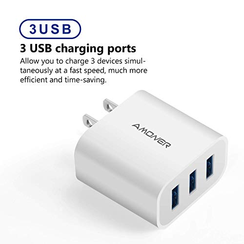 Amoner 15W 3-Port USB Charger