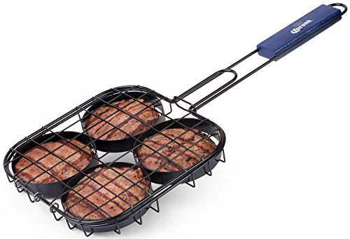 Burger Broiler Basket with Space for 4 Burgers