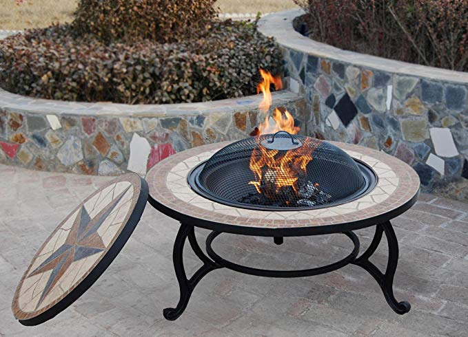 Bestfire SALTILLO BBQ FIRE PIT FOR GARDEN WITH GRILL KIT 1