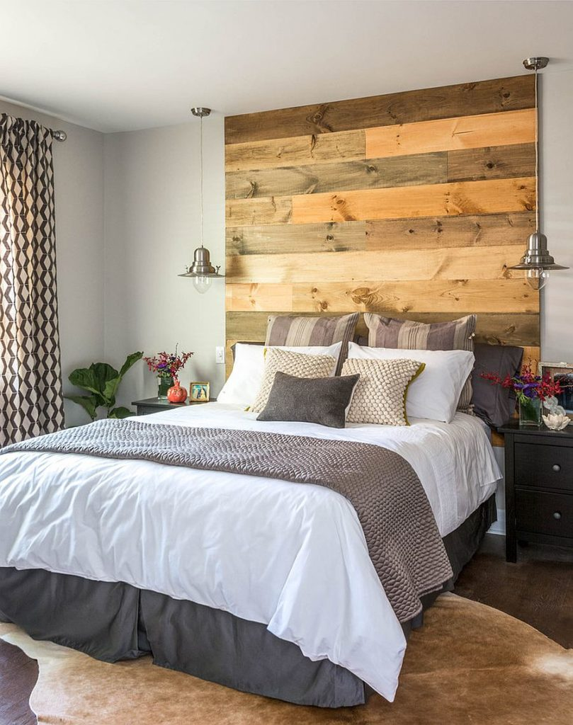 Elegant-reclaimed-wood-headboard-in-the-contemporary-bedroom