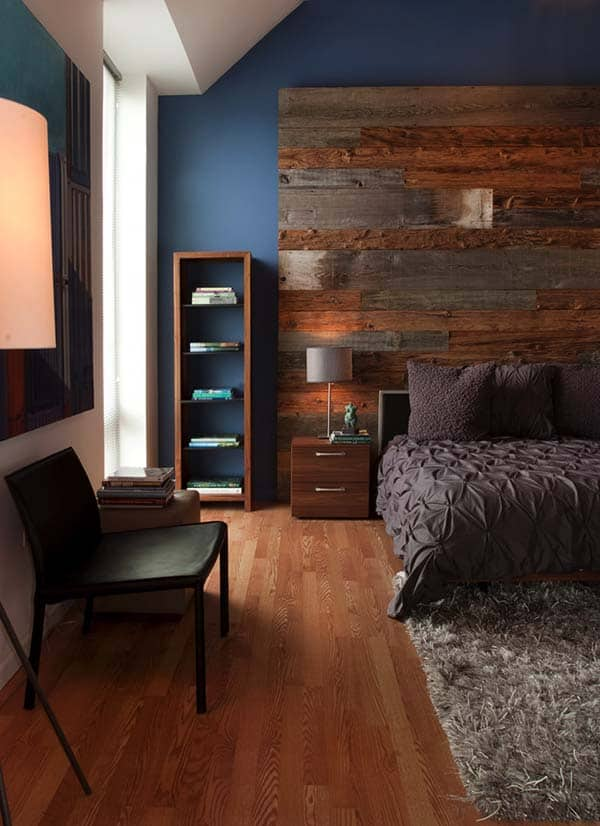 Giant Wooden Headboard Feature Wall