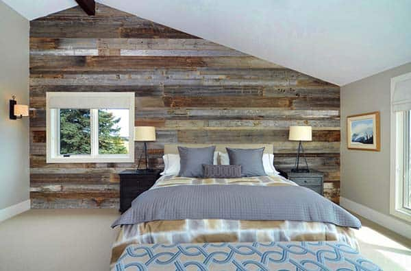 Loft Bedroom with Wooden Feature Wall Window