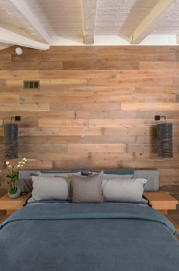 Matt Natural Coloured Brown Wood-Bedroom