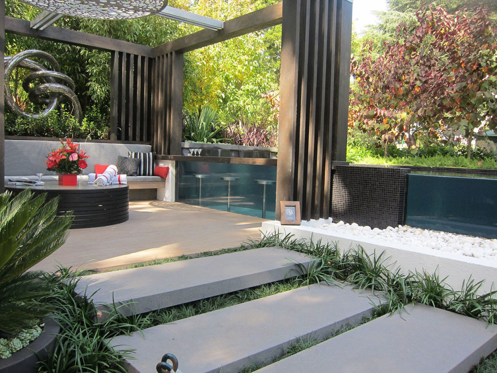 Modern Backyard Ideas With Swimming Pool Jacuzzi Or Hot Tub