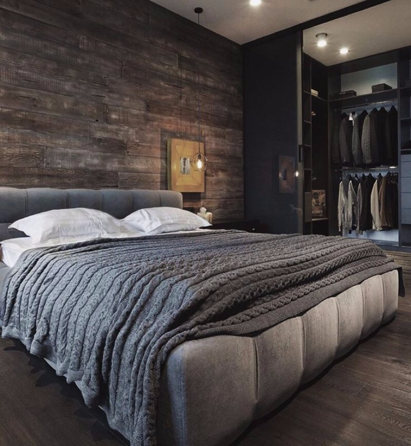 Modern brown bedroom with an opulent Italian style bed
