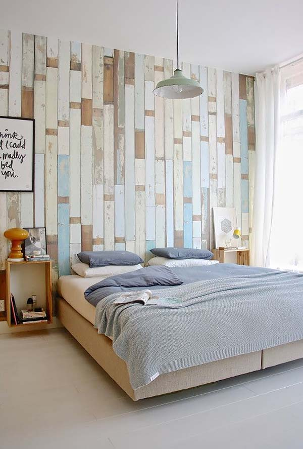 Reclaimed Bright Vertical Wood-Bedroom-Walls