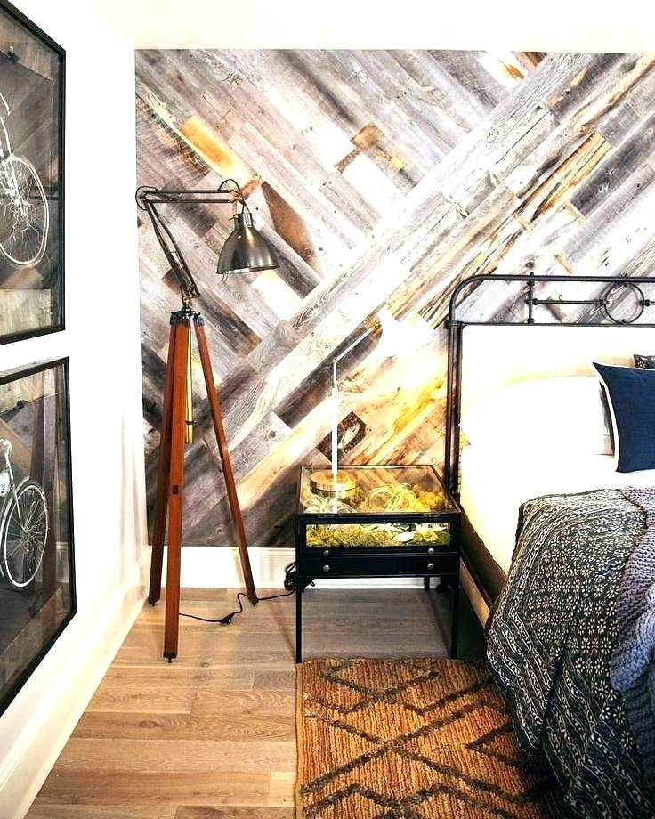 Reclaimed Wood Motif Feature Wall Wallpaper