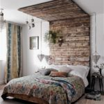 Reclaimed rustic timeber canopy in the bed room telegraph