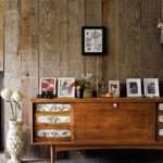 Reclaimed rustic timeber wall in the living room telegraph