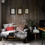 Reclaimed rustic wooden panelling in the living room telegraph