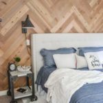 Herringbone Accent Wall for the Bedroom featured in The Created Home