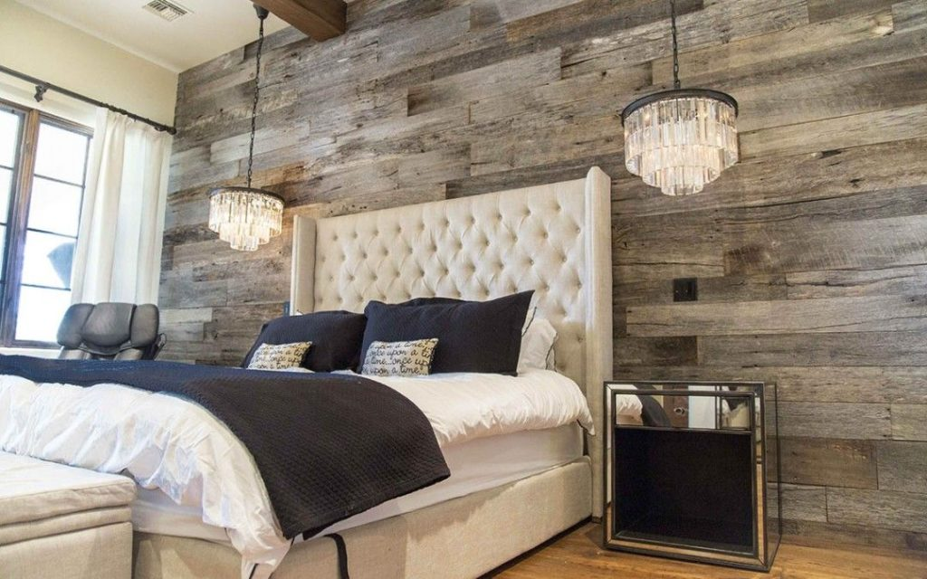 Tobacco Barn Grey Wood Wall Accent Chandelier Lights