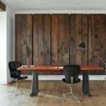 Reclaimed wood feature wall for the home office with barn bulldog ideas from cssltd