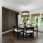 Dark Brown Panelled Wall featured on Freshome