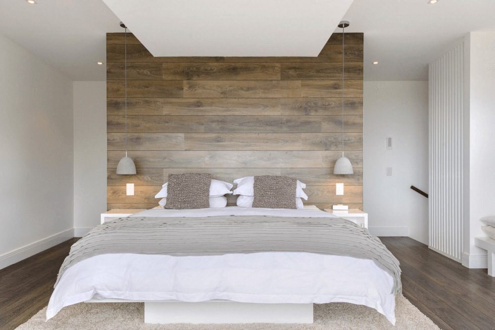 Laminate Feature Wall in the Bedroom - Freshome