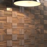 Contemporary-Dark-Wood-Wall-Covering-Near-Standing-Lamp on Homesfeed