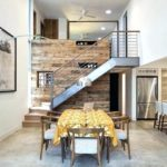 Reclaimed wood feature wall barn interior walls ideas contemporary dining room