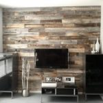 Small Living Room with Wooden Effect Feature Wall